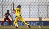 Meg Lanning of Australia is bowled by Tremayne Smartt of the West Indies during the ICC World Twenty20 Bangladesh 2014 Womens Semi Final match...