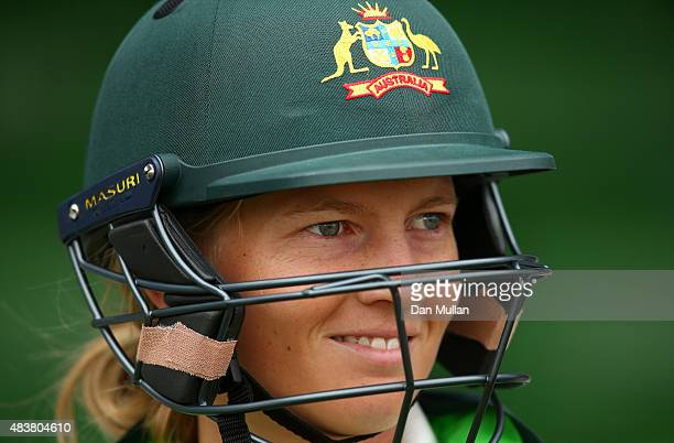 Meg Lanning of Australia looks on prior to the start of play on day three of the Kia Women's Test of the Women's Ashes Series between England and...