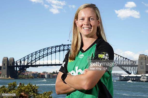 Meg Lanning of the Melbourne Stars poses during the Women's Big Bash League 2016/17 Season launch at Goat Island on December 9 2016 in Sydney...