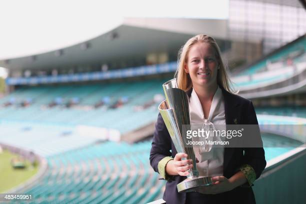 Meg Lanning the captain of Australian Women's cricket team the Southern Stars poses for a photograph during the Australian Southern Stars T20 World...