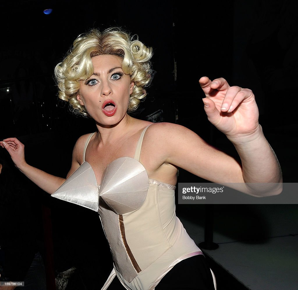 Meg Lanzarone as 'Madonna Past' attends Totally Tubular Time Machine at Culture Club on January 19, 2013 in New York City.