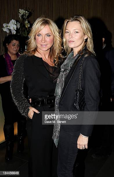 Meg Mathews and Kate Moss attend a party to celebrate the launch of Meg Mathew's new blog 'Meg Says' at Ni Ju San on December 1 2011 in London England