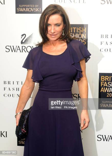 Meg Mathews arrives for the 2008 British Fashion Awards at the Royal Horticultural Hall 80 Vincent Square London