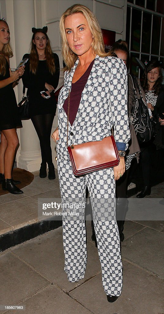 Meg Mathews attending the Claire's Accessories party on October 22, 2013 in London, England.