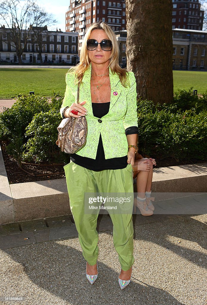 Meg Mathews attends the Vivienne Westwood Red Label show during London Fashion Week Fall/Winter 2013/14 at on February 17, 2013 in London, England.