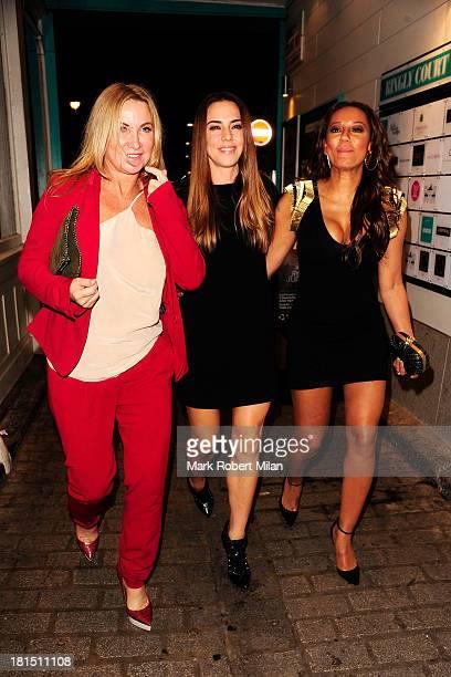Meg Mathews Melanie Chisholm and Melanie Brown at Disco night club on September 21 2013 in London England
