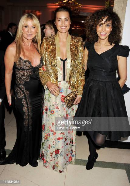 Meg Mathews Yasmin Le Bon and Jeanette Calliva attend the Marie Curie Cancer Fundraiser hosted by Heather Kerzner at Claridge's Hotel on May 15 2012...