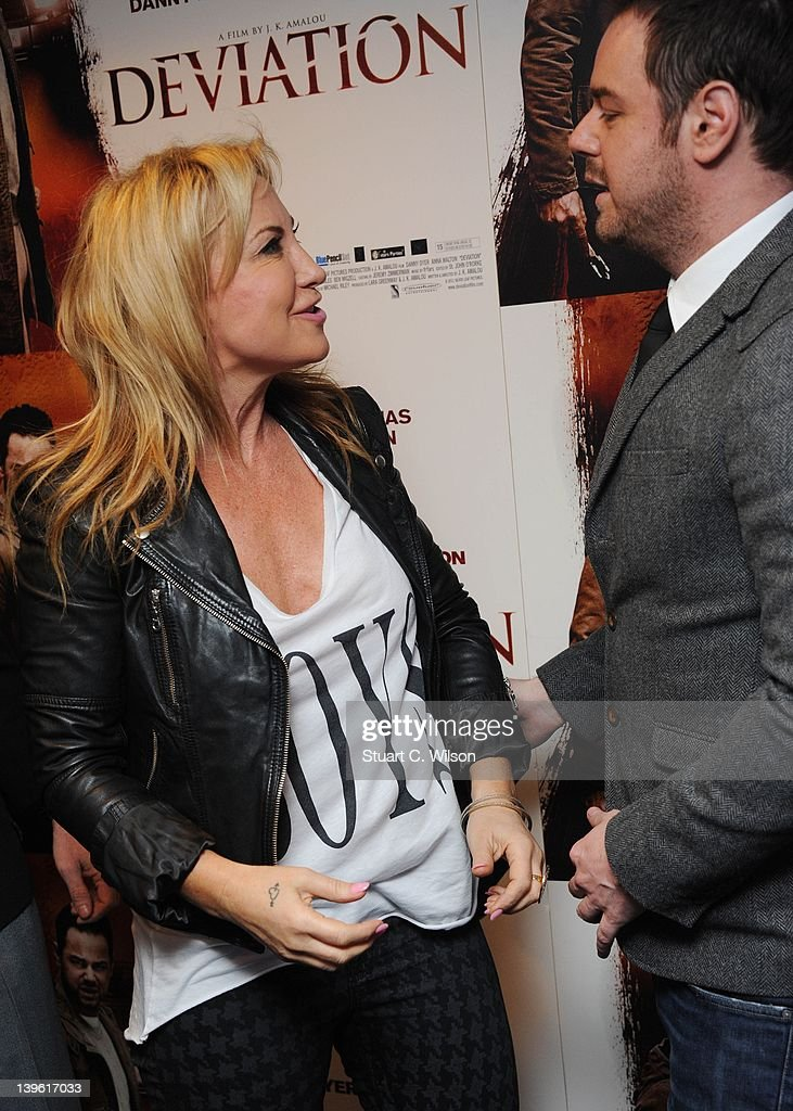 Meg Matthews and Danny Dyer attend the Deviation World Premiere at Odeon Covent Garden on February 23, 2012 in London, England.