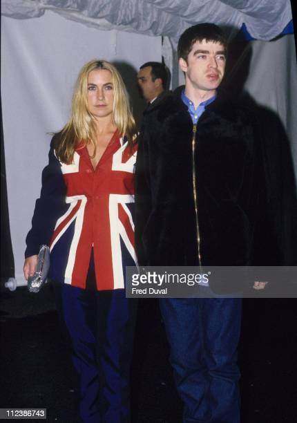 Meg Matthews and Noel Gallagher during Oasis File Pictures in London Great Britain