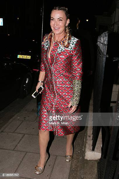 Meg Matthews at Mark's Club on October 27 2016 in London England