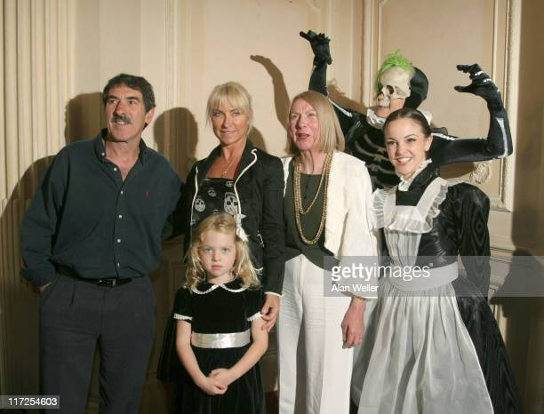 Meg Matthews with her Father mother and daughter with cast members Jennie Harrington and Grant Rae