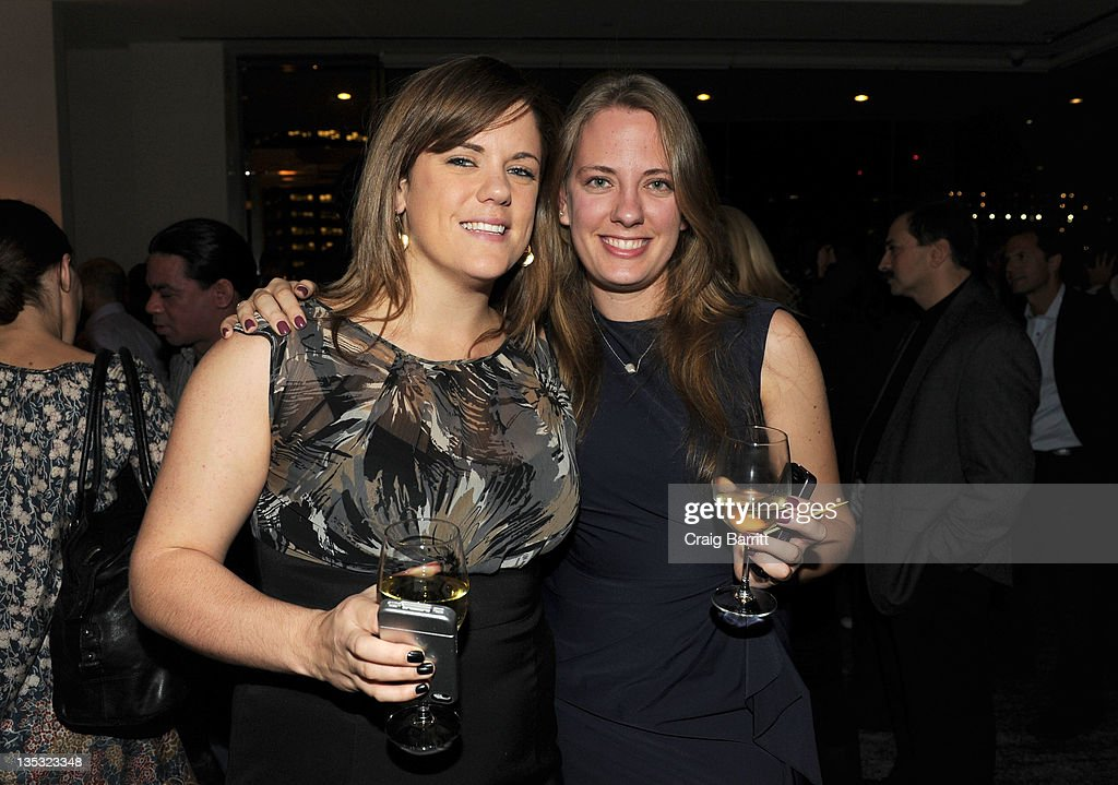 Meg Mylin and Amanda Bowers attend the Worldview Entertainment 2011 Holiday Party at William Beaver House on December 8, 2011 in New York City.