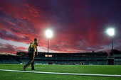 Meg Phillips of the Tasmania Roar fields during the WT20 match between Tasmania and Queensland Aurora Stadium on November 28 2014 in Launceston...