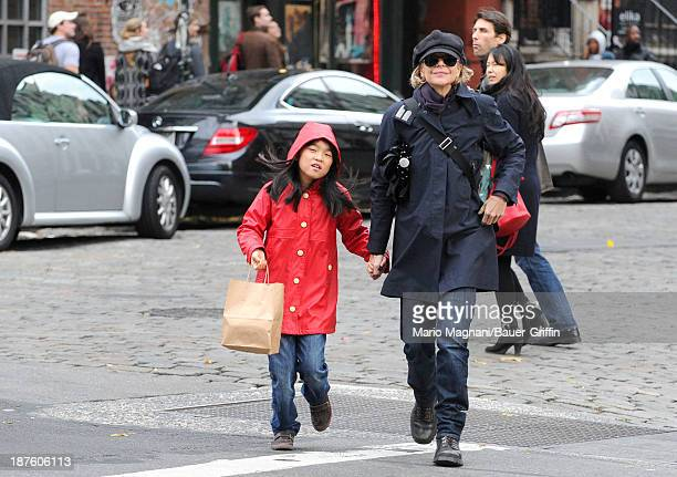 Meg Ryan and her daughter Daisy True Ryan are seen on November 10 2013 in New York City