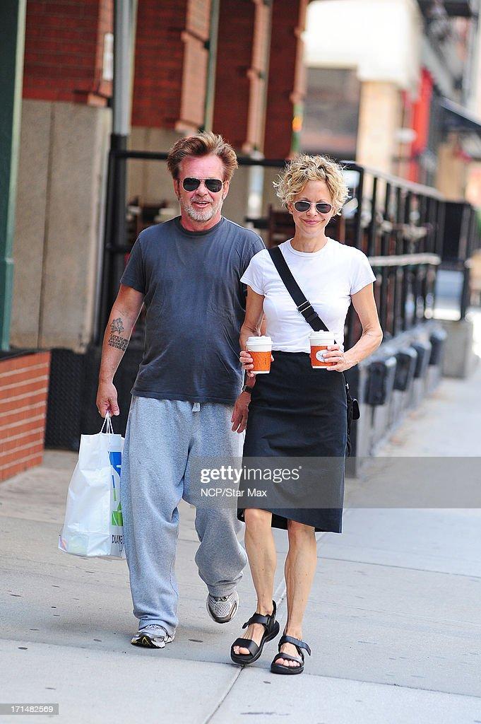 Meg Ryan and John Cougar Mellencamp as seen on June 24, 2013 in New York City.