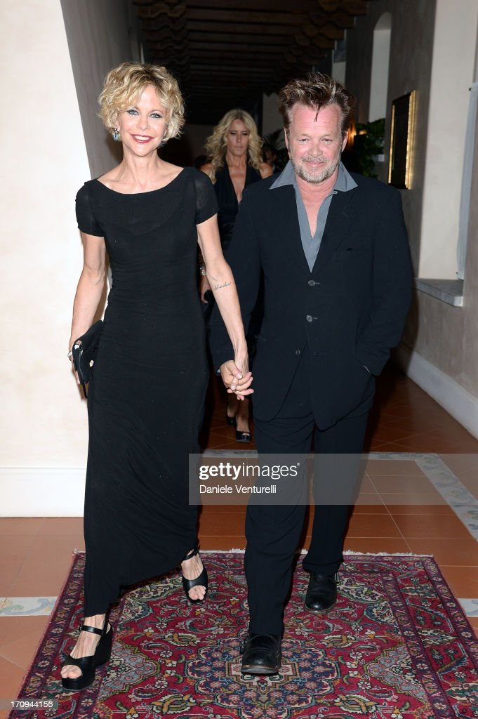 <a gi-track='captionPersonalityLinkClicked' href=/galleries/search?phrase=Meg+Ryan&family=editorial&specificpeople=203107 ng-click='$event.stopPropagation()'>Meg Ryan</a> and John Mellencamp attend Taormina Filmfest 2013 2013 at Teatro Antico on June 20, 2013 in Taormina, Italy.