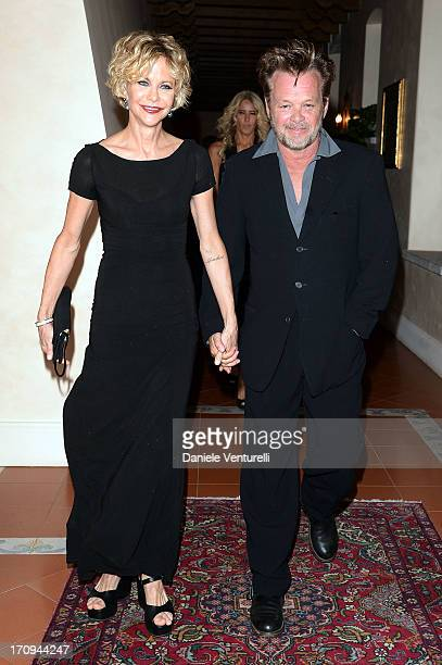 Meg Ryan and John Mellencamp attend Taormina Filmfest 2013 2013 at Teatro Antico on June 20 2013 in Taormina Italy