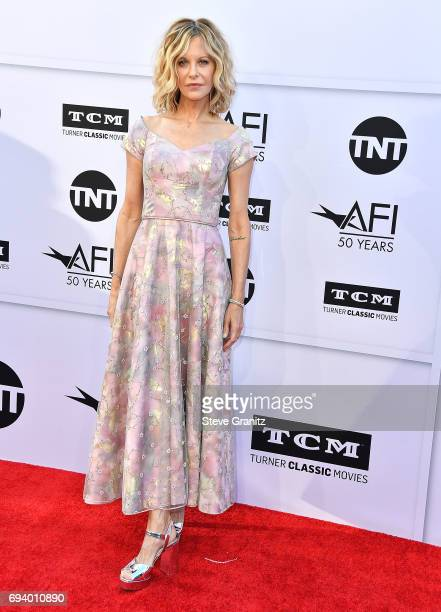 Meg Ryan arrives at the AFI Life Achievement Award Gala Tribute To Diane Keaton on June 8 2017 in Hollywood California
