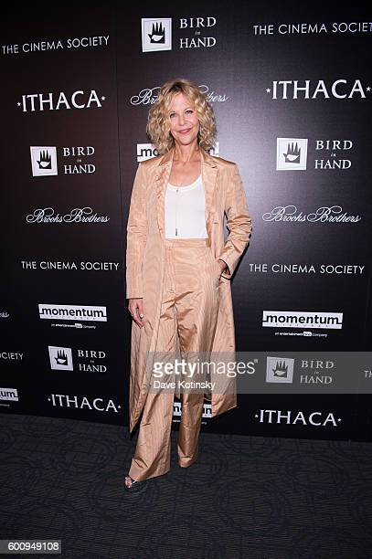 Meg Ryan arrives at the Cinema Society Screening Of 'Ithaca' at Landmark's Sunshine Cinema on September 8 2016 in New York City