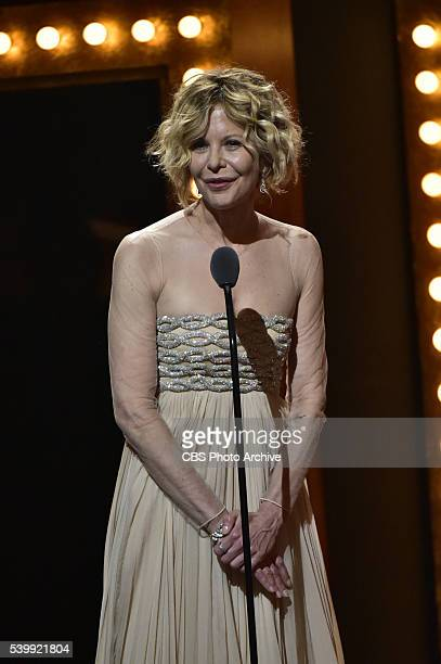 Meg Ryan at THE 70TH ANNUAL TONY AWARDS live from the Beacon Theatre in New York City Sunday June 12 on the CBS Television Network