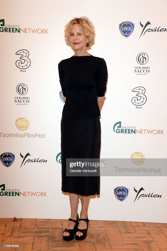 <a gi-track='captionPersonalityLinkClicked' href=/galleries/search?phrase=Meg+Ryan&family=editorial&specificpeople=203107 ng-click='$event.stopPropagation()'>Meg Ryan</a> attends a photocall as part of Taormina Filmfest 2013 on June 20, 2013 in Taormina, Italy.