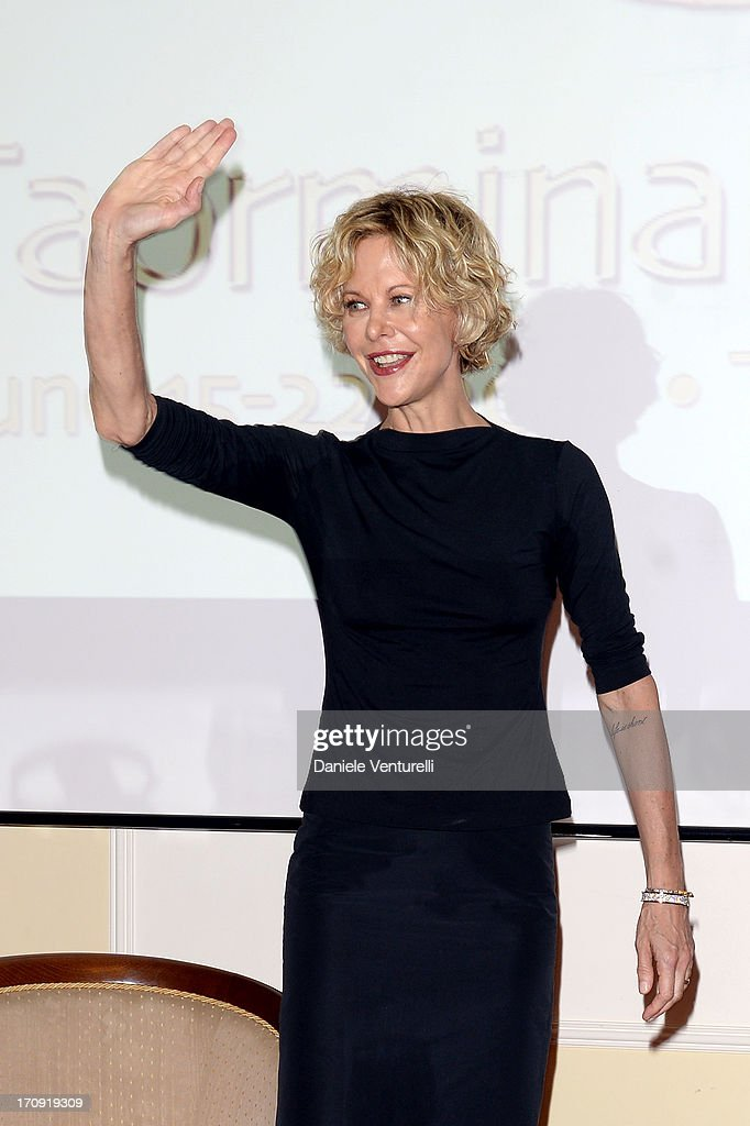 Meg Ryan attends a TaoClass lecture as part of Taormina Filmfest 2013 on June 20, 2013 in Taormina, Italy.