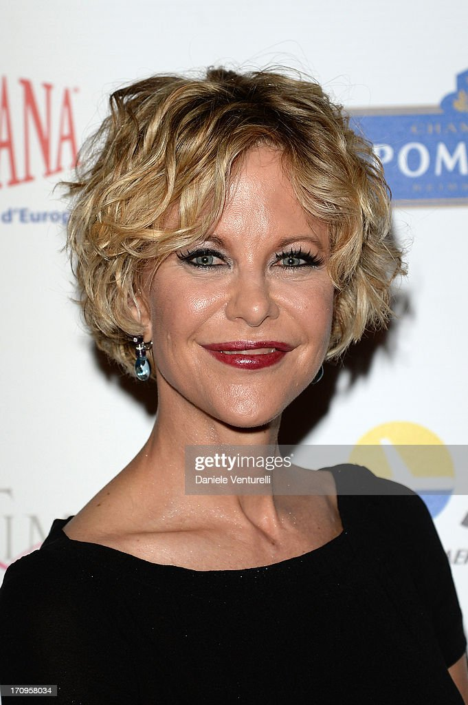 <a gi-track='captionPersonalityLinkClicked' href=/galleries/search?phrase=Meg+Ryan&family=editorial&specificpeople=203107 ng-click='$event.stopPropagation()'>Meg Ryan</a> attends Taormina Filmfest 2013 2013 at Teatro Antico on June 20, 2013 in Taormina, Italy.