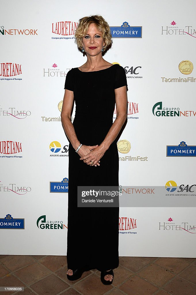 Meg Ryan attends Taormina Filmfest 2013 2013 at Teatro Antico on June 20, 2013 in Taormina, Italy.