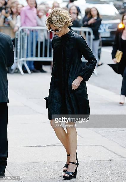 Meg Ryan attends the memorial service for L'Wren Scott at St Bartholomew's Church on May 2 2014 in New York City Fashion designer L'Wren Scott...