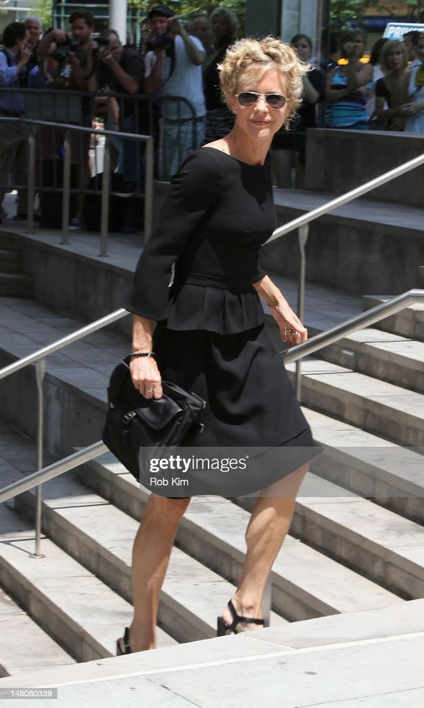 <a gi-track='captionPersonalityLinkClicked' href=/galleries/search?phrase=Meg+Ryan&family=editorial&specificpeople=203107 ng-click='$event.stopPropagation()'>Meg Ryan</a> attends the Nora Ephron Memorial Service on July 9, 2012 in New York City.