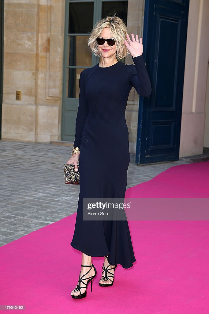 Meg Ryan attends the Schiaparelli show as part of Paris Fashion Week Haute Couture Fall/Winter 2015/2016 on July 6 2015 in Paris France