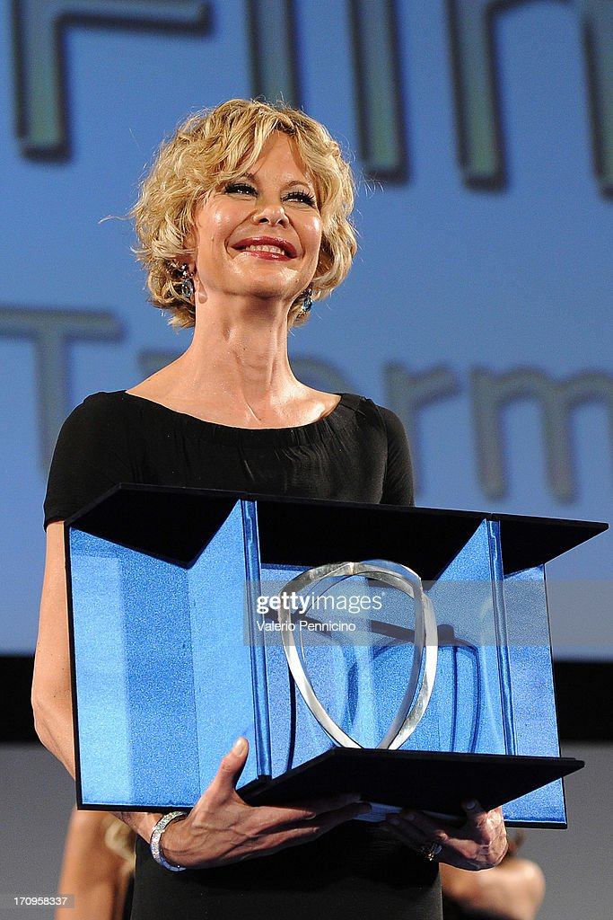 <a gi-track='captionPersonalityLinkClicked' href=/galleries/search?phrase=Meg+Ryan&family=editorial&specificpeople=203107 ng-click='$event.stopPropagation()'>Meg Ryan</a> attends the Taormina Filmfest 2013 on June 20, 2013 in Taormina, Italy.