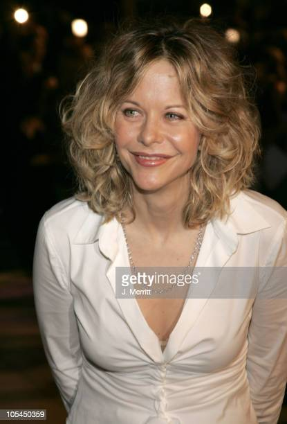 Meg Ryan during 2005 Vanity Fair Oscar Party at Mortons in Los Angeles California United States