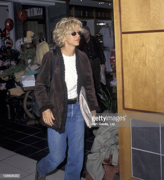 Meg Ryan during Meg Ryan Sighted at Los Angeles International Airport March 03 1997 at Los Angeles International Airport in Los Angeles California...