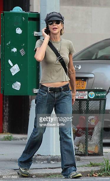 Meg Ryan is seen in SoHo on August 31 2013 in New York City