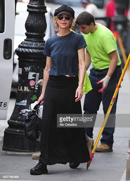 Meg Ryan is seen in Soho on June 17 2014 in New York City