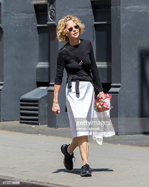 Meg Ryan is seen taking a stroll in SoHo on May 5 2015 in New York City