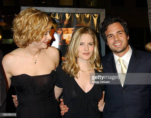 Meg Ryan Jennifer Jason Leigh and Mark Ruffalo during 'In The Cut' Los Angeles Premiere Arrivals at Academy Theatre in Beverly Hills California...
