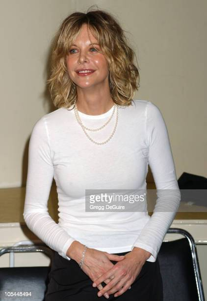 Meg Ryan presenter during 57th Annual Writers Guild Awards Press Room at Hollywood Palladium in Los Angeles California United States