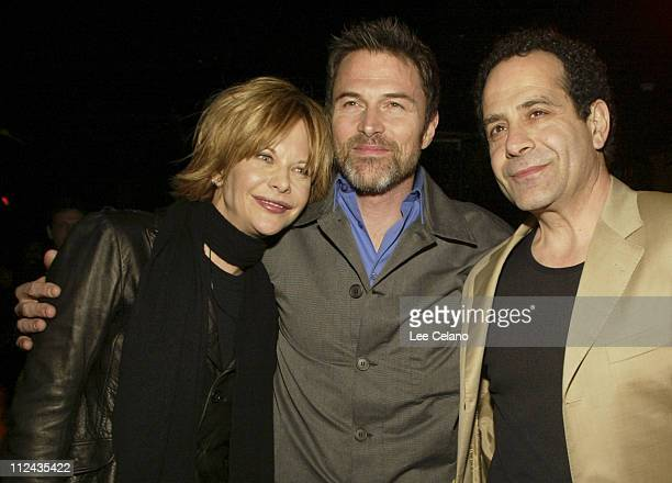 Meg Ryan Tim Daly and Tony Shalhoub during World Premiere of 'Against the Ropes' AfterParty at The Highlands Nightclub in Hollywood California United...