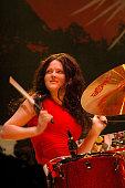 Meg White Drummer The White Stripes Glastonbury festival 2005