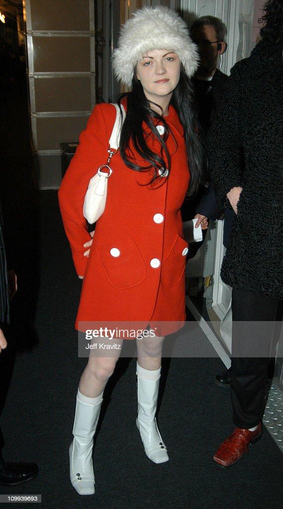 Meg White of The White Stripes during MTV Europe Music Awards 2003 - Arrivals at Ocean Terminal Arena in Edinburgh, Scotland.