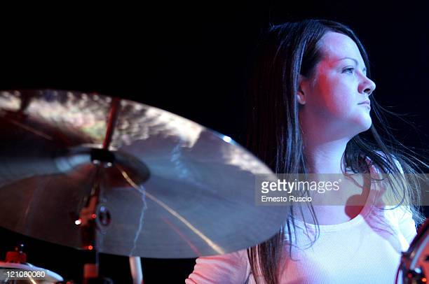 Meg White of The White Stripes during The White Stripes in Concert at Tenda Strisce Theater in Rome June 6 2007 at Tenda Strisce Theater in Rome Italy