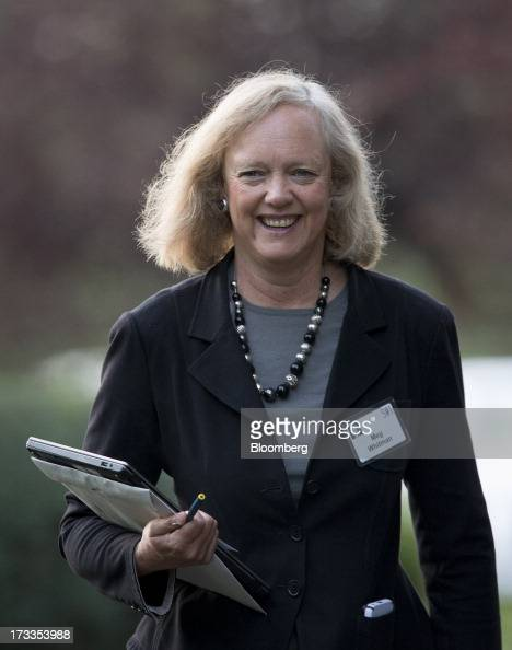 Meg Whitman chief executive officer of HewlettPackard Co arrives to a morning session at the Allen Co Media and Technology Conference in Sun Valley...