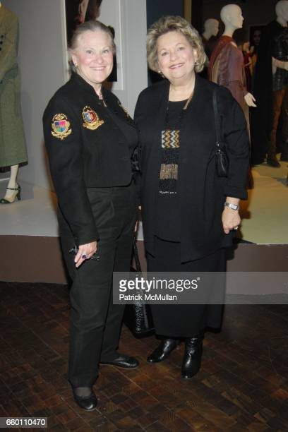Meg Wolf and Mary Wheat attend LACMA Costume Council exclusive preview of FIDM's 17th Annual Art of Motion Picture Costume at Fashion Institute of...