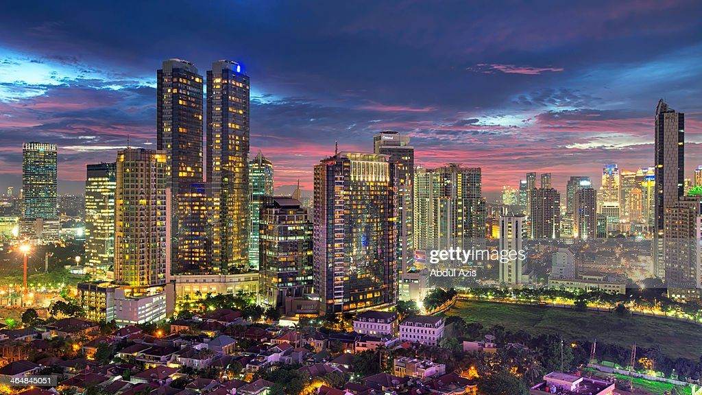 Mega Kuningan CBD Jakarta Sunset