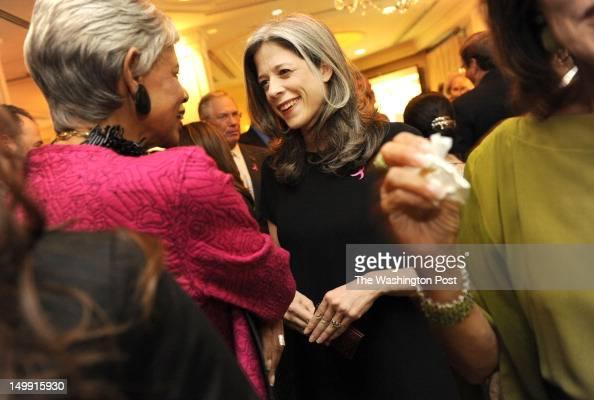 FILE Mega lobbyist Heather Podesta at a reception in honor of former US Ambassador Nancy Brinker at the Hay Adams Hotel Washington DC on August 12...