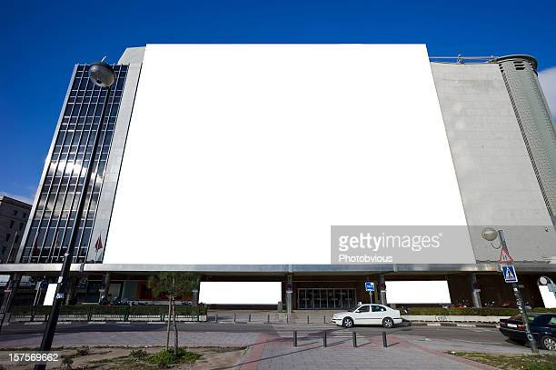 Megabig billboard in facade of mall