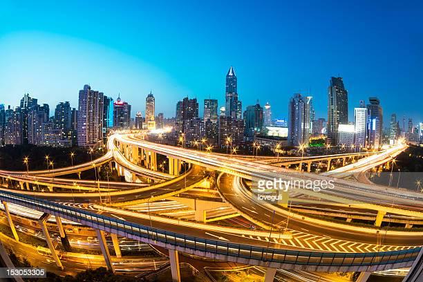 Megacity Highway in shanghai