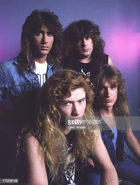 Megadeth 1987 Dave Mustaine Jeff Young Chuck Behler and David Ellefson